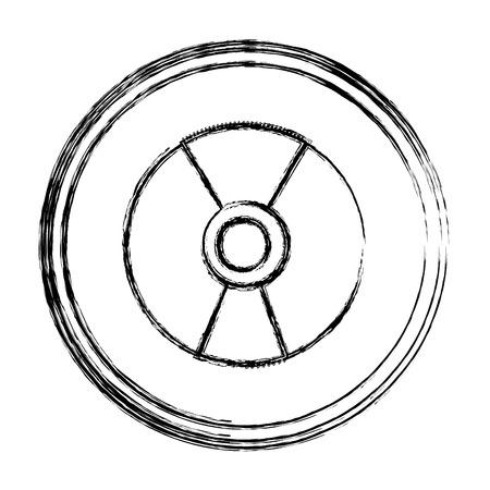 grunge danger hazard energy power emblem vector illustration