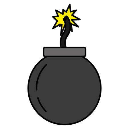 Explosión de bombas de color darger war arma ilustración vectorial