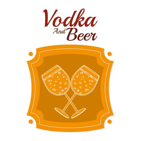 Vodka and beer