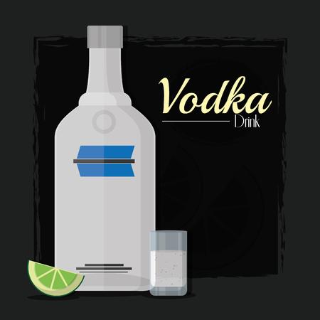 Vodka alcohol drink Illustration