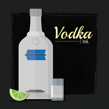 Vodka alcohol drink Ilustrace
