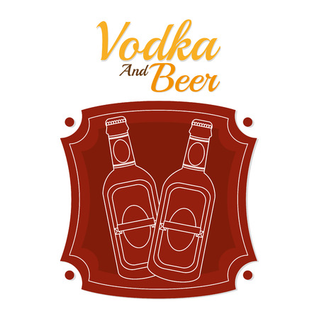 Vodka and beer Illustration