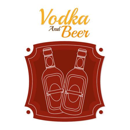Vodka and beer 向量圖像