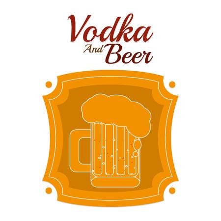 Vodka and beer Ilustração