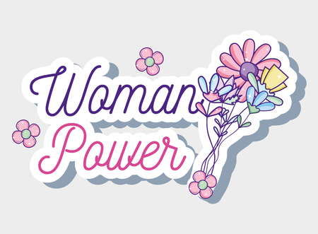 Woman power cartoon Illustration