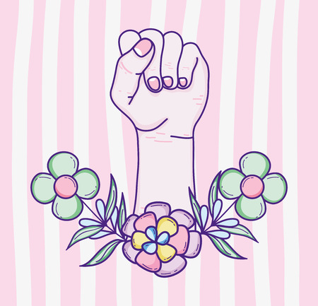 Caricature de puissance de femme