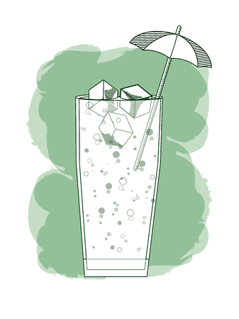 Cold and delicious cocktail