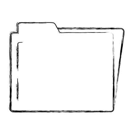 grunge folder file to organized document archive vector illustration