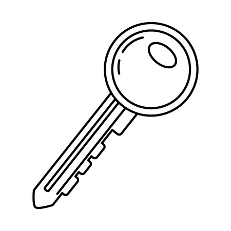 line key object to security open access vector illustration 矢量图像