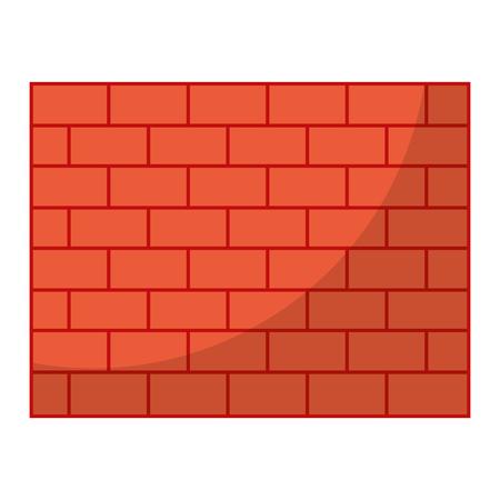 structure brick wall architecture block vector illustration
