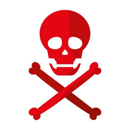danger skull warning death symbol vector illustration