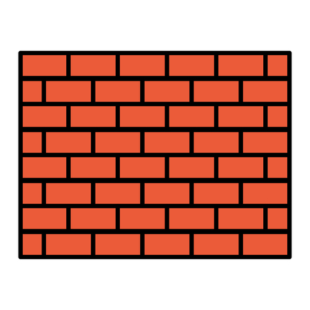 color structure brick wall architecture block vector illustration 向量圖像