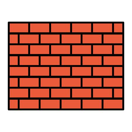 color structure brick wall architecture block vector illustration Illustration