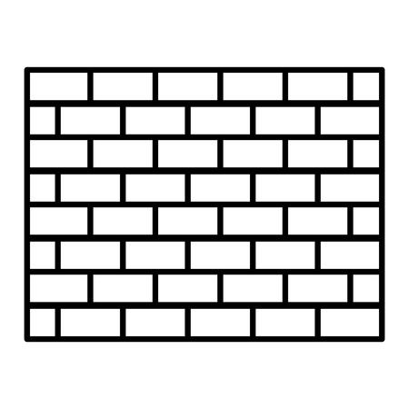 line structure brick wall architecture block vector illustration Illustration