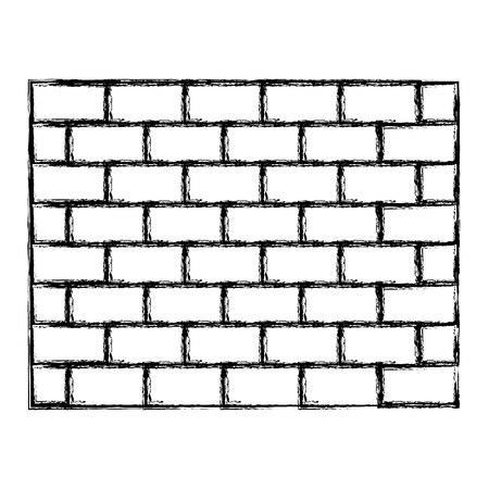 grunge structure brick wall architecture block vector illustration