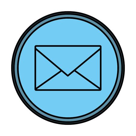 color e-mail letter message text emblem vector illustration