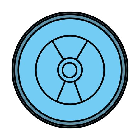 color danger hazard energy power emblem vector illustration