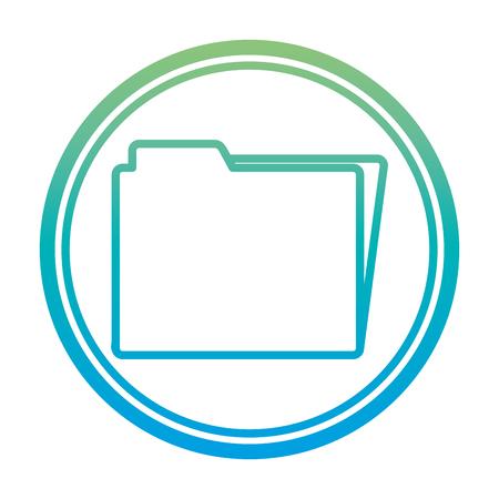 degraded line folder file data documents emblem vector illustration