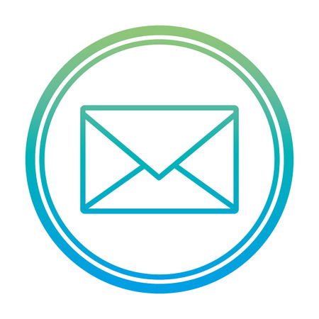 degraded line e-mail letter message text emblem vector illustration