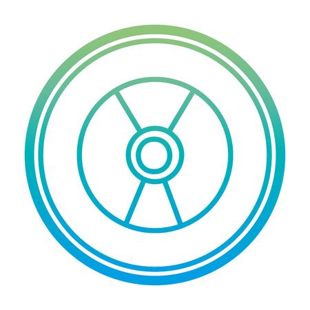 degraded line danger hazard energy power emblem vector illustration
