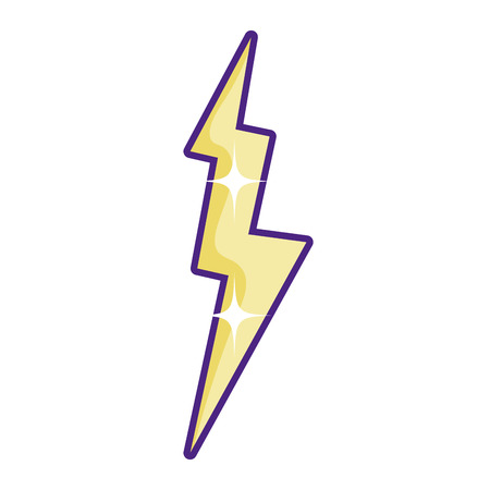 electric thunder storm weather style vector illustration