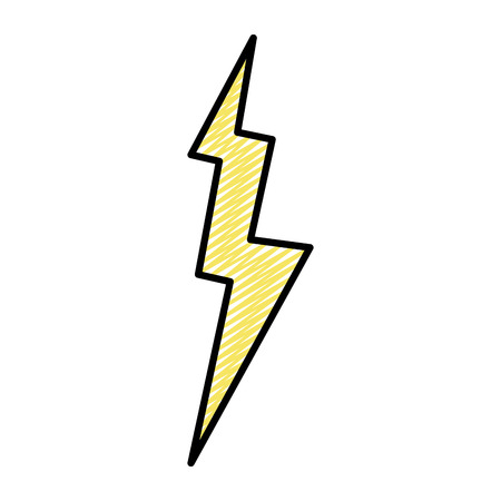 doodle electric thunder storm weather style vector illustration Illustration