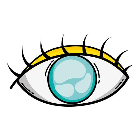human graphic vision eye design vector illustration Vektoros illusztráció