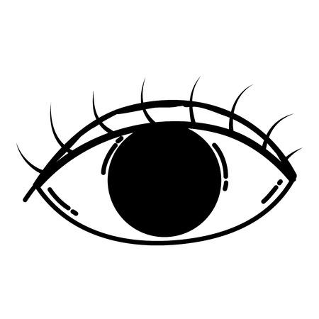 line human graphic vision eye design vector illustration Vektoros illusztráció