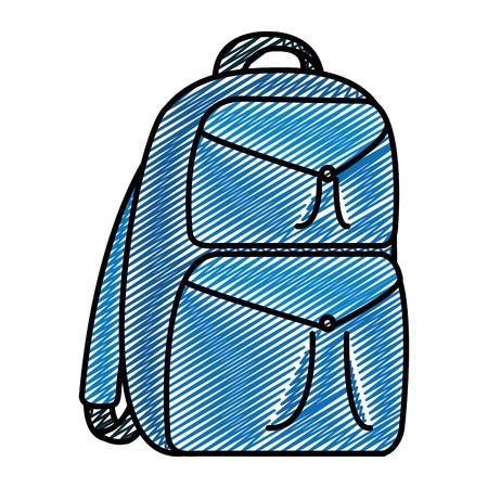 doodle backpack education school tool design vector illustration Illustration