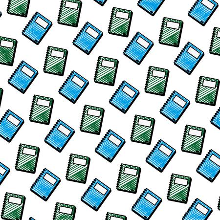 doodle texte des livres objet objet fond illustration vectorielle