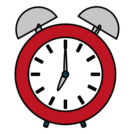 color alarm circle clock design object vector illustration