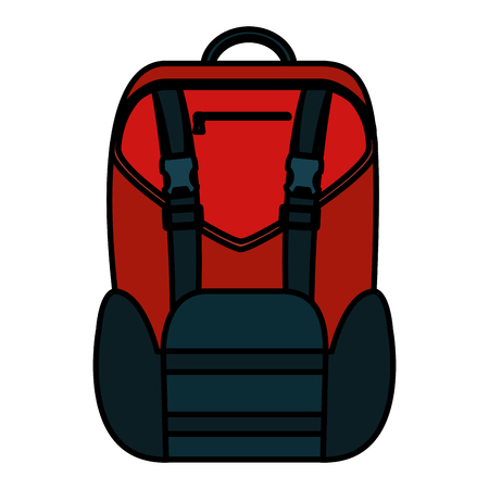 color backpack education design school tool vector illustration