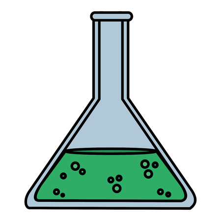 color lab flask chemical science experiment vector illustration