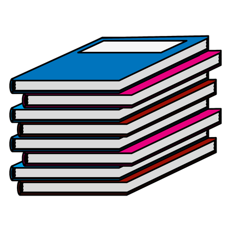 livres scolaires couleur académique objet étude illustration vectorielle