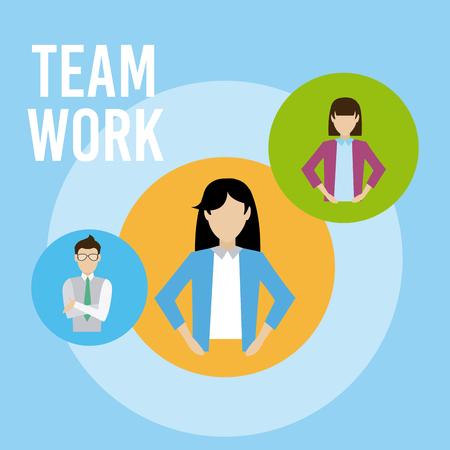 Business teamwork cartoons vector illustration graphic design Illustration