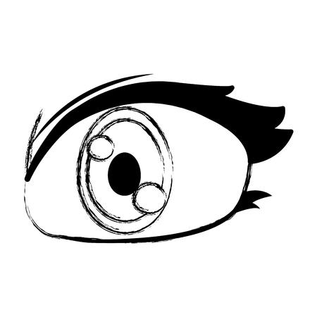 grunge cute woman eye with eyelashes design vector illustration