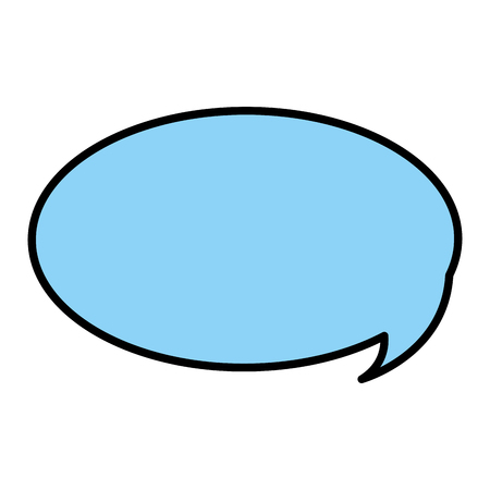 color chat bubble text message idea vector illustration
