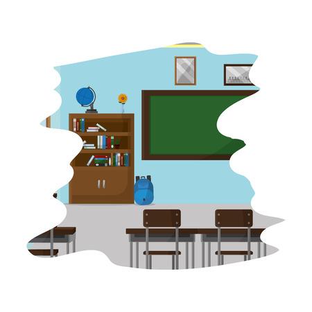 education school utensils in the classroom knowledge vector illustration