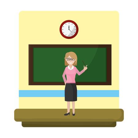 education teacher explain academic lesson vector illustration