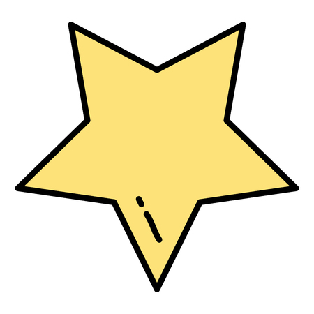 color art sparkly star design icon vector illustration