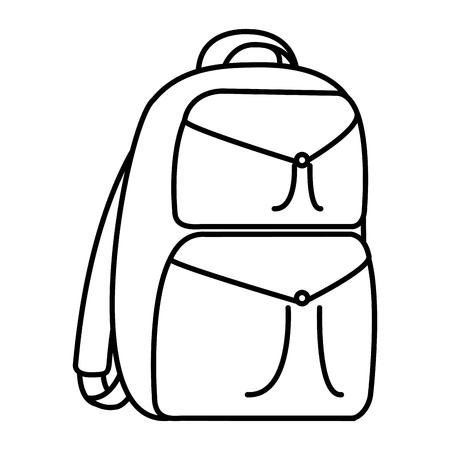 ligne sac à dos éducation école outil design illustration vectorielle