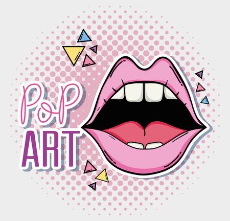 Pop art cartoon