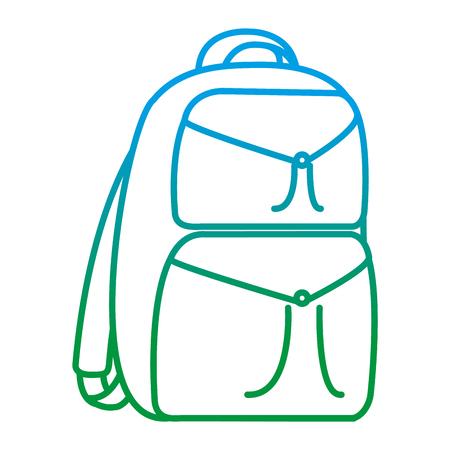degraded line backpack education school tool design vector illustration