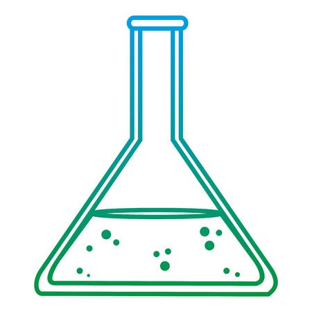 degraded line lab erlenmeyer chemical science experiment vector illustration Banque d'images