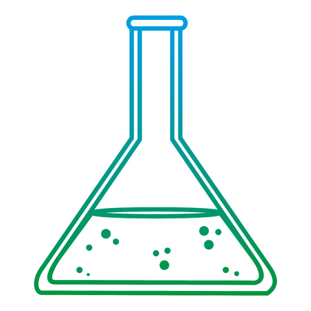 degraded line lab erlenmeyer chemical science experiment vector illustration Stock Photo