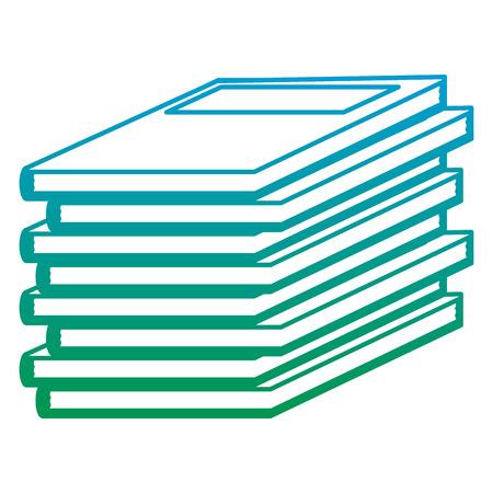 degraded line education books academic object study vector illustration