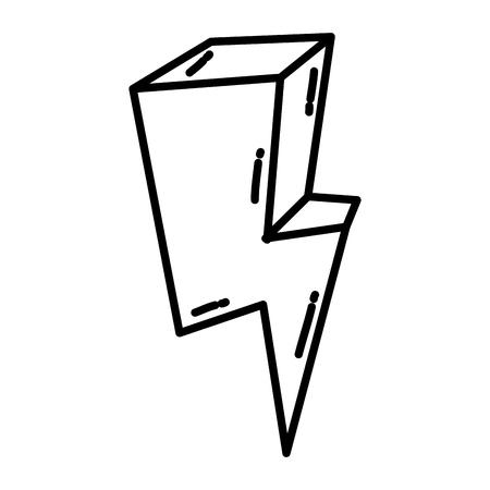 line nature electric thunder danger weather vector illustration