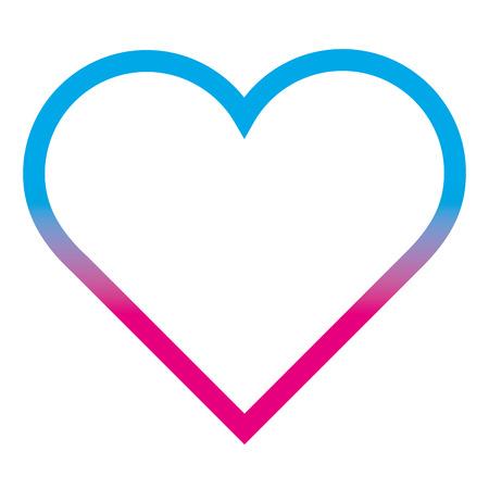 degraded line beauty heart love symbol design vector illustration
