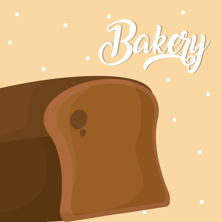 Wholemeal bread Delicious and fresh bakery vector illustration graphic design Çizim
