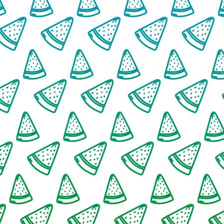 degraded line delicious watermelon fruit vitamin background vector illustration Illustration